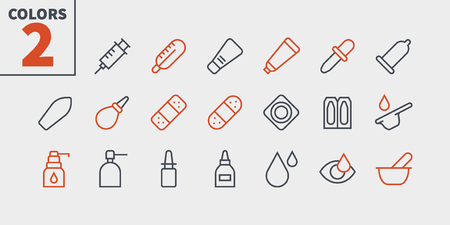 Medicine UI Pixel Perfect Well-crafted Vector Thin Line Icons 48x48 Ready for 24x24 Grid for Web Graphics and Apps with Editable Stroke. Simple Minimal Pictogram Part 2-3