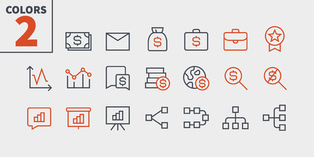 Business UI Pixel Perfect Well-crafted Vector Thin Line Icons 48x48 Ready for 24x24 Grid for Web Graphics and Apps with Editable Stroke. Simple Minimal Pictogram Part 2-6 Illustration