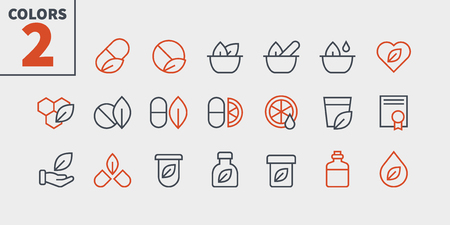 Alternative medicine UI Pixel Perfect Well-crafted Vector Thin Line Icons 48x48 Ready for 24x24 Grid for Web Graphics and Apps with Editable Stroke. Simple Minimal Pictogram Part 1-2 Banque d'images - 109850246