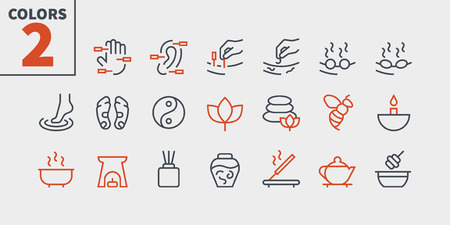 Alternative medicine UI Pixel Perfect Well-crafted Vector Thin Line Icons 48x48 Ready for 24x24 Grid for Web Graphics and Apps with Editable Stroke. Simple Minimal Pictogram Part 2-2