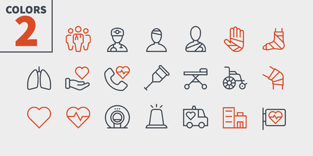 Medical UI Pixel Perfect Well-crafted Vector Thin Line Icons 48x48 Ready for 24x24 Grid for Web Graphics and Apps with Editable Stroke. Simple Minimal Pictogram Part 3-3