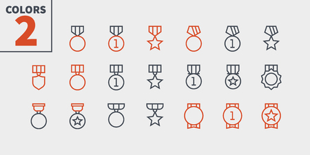 Awards UI Pixel Perfect Well-crafted Vector Thin Line Icons 48x48 Ready for 24x24 Grid for Web Graphics and Apps with Editable Stroke. Simple Minimal Pictogram Part 2-4