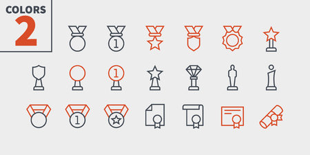 Awards UI Pixel Perfect Well-crafted Vector Thin Line Icons 48x48 Ready for 24x24 Grid for Web Graphics and Apps with Editable Stroke. Simple Minimal Pictogram Part 3-4