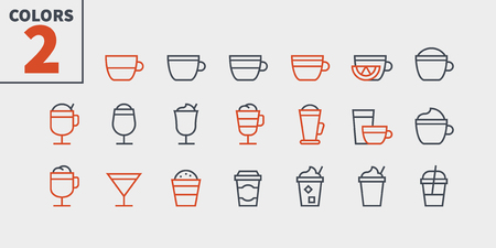 Coffee UI Pixel Perfect Well-crafted Vector Thin Line Icons 48x48 Ready for 24x24 Grid for Web Graphics and Apps with Editable Stroke. Simple Minimal Pictogram Part 1-1 Illustration