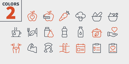 Health UI Pixel Perfect Well-crafted Vector Thin Line Icons 48x48 Ready for 24x24 Grid for Web Graphics and Apps with Editable Stroke. Simple Minimal Pictogram Part 3-3 向量圖像