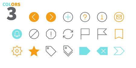 Email UI Pixel Perfect Well-crafted Vector Thin Line Icons 48x48 Ready for 24x24 Grid for Web Graphics and Apps with Editable Stroke. Simple Minimal Pictogram Part 3-5 写真素材 - 108974106