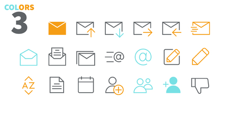 Email UI Pixel Perfect Well-crafted Vector Thin Line Icons 48x48 Ready for 24x24 Grid for Web Graphics and Apps with Editable Stroke. Simple Minimal Pictogram Part 5-5