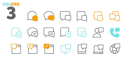 Messages UI Pixel Perfect Well-crafted Vector Thin Line Icons 48x48 Ready for 24x24 Grid for Web Graphics and Apps with Editable Stroke. Simple Minimal Pictogram Part 2-5