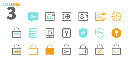 Keys and Locks Outlined Pixel Perfect Well-crafted Vector Thin Line Icons 48x48 Ready for 24x24 Grid for Web Graphics and Apps with Editable Stroke. Simple Minimal Pictogram Part 1-1 Reklamní fotografie - 109718185