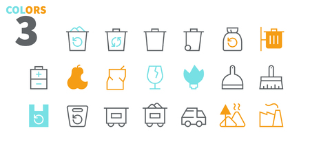 Garbage Outlined Pixel Perfect Well-crafted Vector Thin Line Icons 48x48 Ready for 24x24 Grid for Web Graphics and Apps with Editable Stroke. Simple Minimal Pictogram Part 1-1 Ilustração