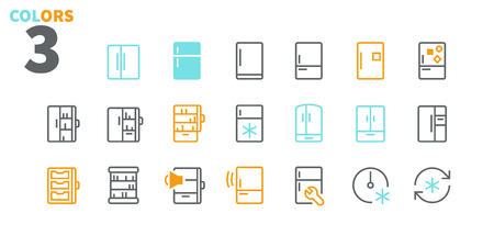 Fridge UI Pixel Perfect Well-crafted Vector Thin Line Icons 48x48 Ready for 24x24 Grid for Web Graphics and Apps with Editable Stroke. Simple Minimal Pictogram Part 1-2