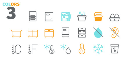 Fridge UI Pixel Perfect Well-crafted Vector Thin Line Icons 48x48 Ready for 24x24 Grid for Web Graphics and Apps with Editable Stroke. Simple Minimal Pictogram Part 2-2