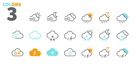 Weather UI Pixel Perfect Well-crafted Vector Thin Line Icons 48x48 Ready for 24x24 Grid for Web Graphics and Apps with Editable Stroke. Simple Minimal Pictogram Part 3-3