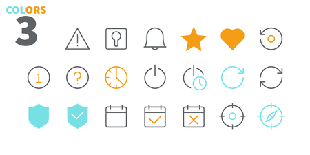 Settings UI Pixel Perfect Well-crafted Vector Thin Line Icons 48x48 Ready for 24x24 Grid for Web Graphics and Apps with Editable Stroke. Simple Minimal Pictogram Part 3-6