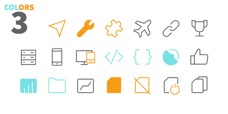 Settings UI Pixel Perfect Well-crafted Vector Thin Line Icons 48x48 Ready for 24x24 Grid for Web Graphics and Apps with Editable Stroke. Simple Minimal Pictogram Part 6-6