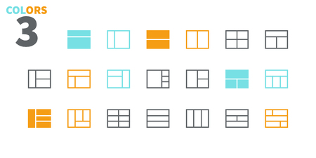 Layout UI Pixel Perfect Well-crafted Vector Thin Line Icons 48x48 Ready for 24x24 Grid for Web Graphics and Apps with Editable Stroke. Simple Minimal Pictogram Part 6-6