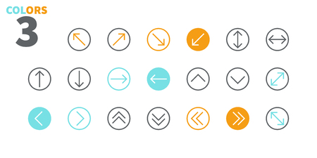 Arrows UI Pixel Perfect Well-crafted Vector Thin Line Icons 48x48 Ready for 24x24 Grid for Web Graphics and Apps with Editable Stroke. Simple Minimal Pictogram Part 2-5 Stock Vector - 109718224