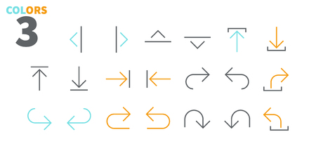 Arrows UI Pixel Perfect Well-crafted Vector Thin Line Icons 48x48 Ready for 24x24 Grid for Web Graphics and Apps with Editable Stroke. Simple Minimal Pictogram Part 4-5 Illustration