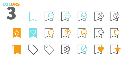 Bookmarks & Tags UI Pixel Perfect Well-crafted Vector Thin Line Icons 48x48 Ready for 24x24 Grid for Web Graphics and Apps with Editable Stroke. Simple Minimal Pictogram Part 1-3