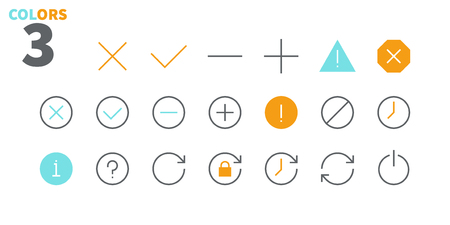 Control UI Pixel Perfect Well-crafted Vector Thin Line Icons 48x48 Ready for 24x24 Grid for Web Graphics and Apps with Editable Stroke. Simple Minimal Pictogram Part 1-4