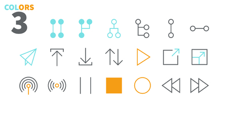 Control UI Pixel Perfect Well-crafted Vector Thin Line Icons 48x48 Ready for 24x24 Grid for Web Graphics and Apps with Editable Stroke. Simple Minimal Pictogram Part 4-4 Çizim