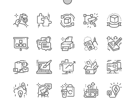 Branding Well-crafted Pixel Perfect Vector Thin Line Icons 30 2x Grid for Web Graphics and Apps. Simple Minimal Pictogram