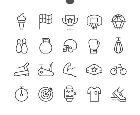 Sport UI Pixel Perfect Well-crafted Vector Thin Line Icons 48x48 Grid for Web Graphics and Apps. Simple Minimal Pictogram Illustration
