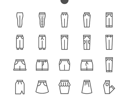 Clothes UI Pixel Perfect Well-crafted Vector Thin Line Icons 48x48 Grid for Web Graphics and Apps. Simple Minimal Pictogram Part 2-5