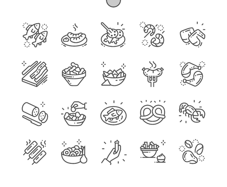 Pub food Well-crafted Pixel Perfect Vector Thin Line Icons 30 2x Grid for Web Graphics and Apps. Simple Minimal Pictogram Stock fotó - 109834795