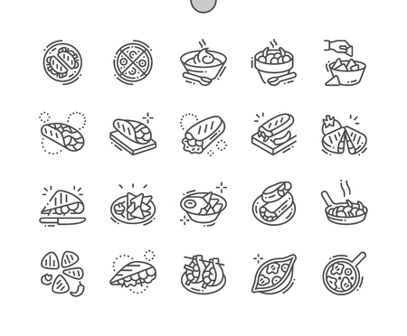 Mexican food Well-crafted Pixel Perfect Vector Thin Line Icons 30 2x Grid for Web Graphics and Apps. Simple Minimal Pictogram