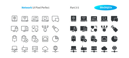 Network UI Pixel Perfect Well-crafted Vector Thin Line And Solid Icons 30 2x Grid for Web Graphics and Apps. Simple Minimal Pictogram Part 3-5
