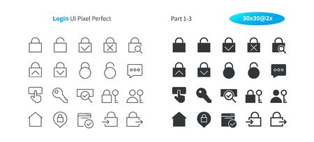 Login UI Pixel Perfect Well-crafted Vector Thin Line And Solid Icons 30 2x Grid for Web Graphics and Apps. Simple Minimal Pictogram Part 1-3 版權商用圖片