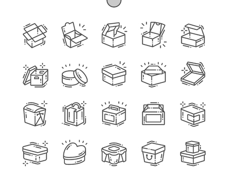 Box Well-crafted Pixel Perfect Vector Thin Line Icons 30 2x Grid for Web Graphics and Apps. Simple Minimal Pictogram 일러스트