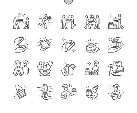 Giving Well-crafted Pixel Perfect Vector Thin Line Icons 30 2x Grid for Web Graphics and Apps. Simple Minimal Pictogram