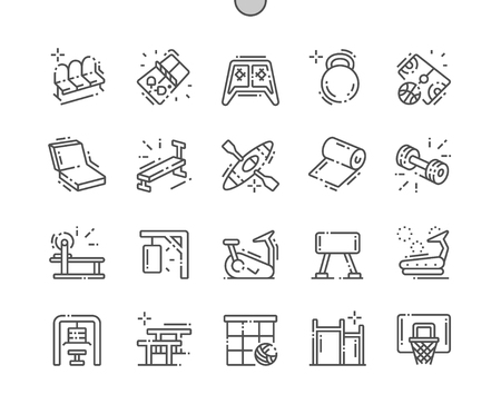 Coach stuff Well-crafted Pixel Perfect Vector Thin Line Icons 30 2x Grid for Web Graphics and Apps. Simple Minimal Pictogram