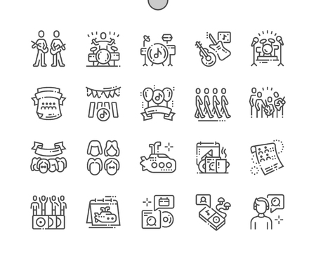 World musics Day Well-crafted Pixel Perfect Vector Thin Line Icons 30 2x Grid for Web Graphics and Apps. Simple Minimal Pictogram