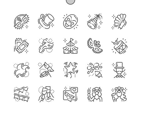 Carnival Well-crafted Pixel Perfect Vector Thin Line Icons 30 2x Grid for Web Graphics and Apps. Simple Minimal Pictogram