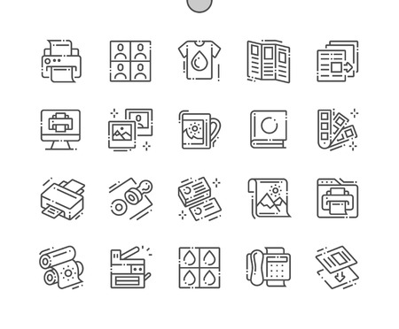 Print Well-crafted Pixel Perfect Vector Thin Line Icons 30 2x Grid for Web Graphics and Apps. Simple Minimal Pictogram