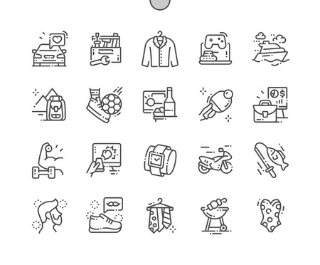Male interest Well-crafted Pixel Perfect Vector Thin Line Icons 30 2x Grid for Web Graphics and Apps. Simple Minimal Pictogram Vector Illustration