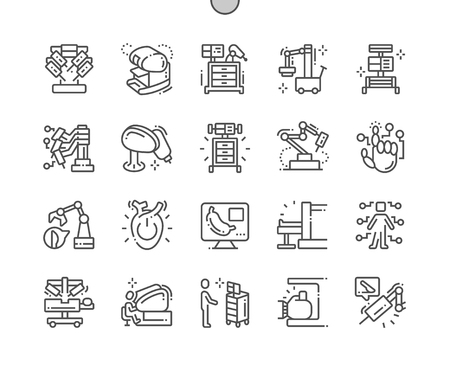 Robotic Surgery Well-crafted Pixel Perfect Vector Thin Line Icons 30 2x Grid for Web Graphics and Apps. Simple Minimal Pictogram