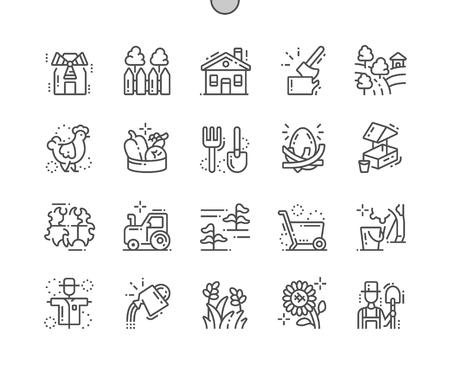 Village Well-crafted Pixel Perfect Vector Thin Line Icons 30 2x Grid for Web Graphics and Apps. Simple Minimal Pictogram