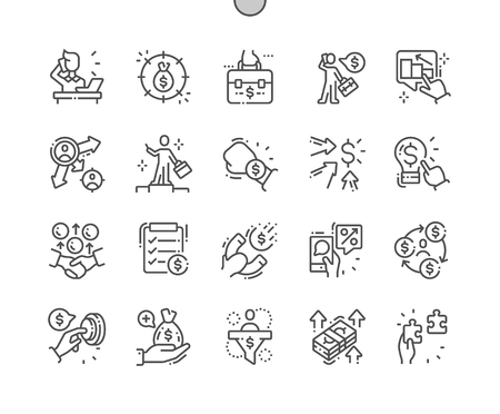 Entrepreneur Well-crafted Pixel Perfect Vector Thin Line Icons 30 2x Grid for Web Graphics and Apps. Simple Minimal Pictogram