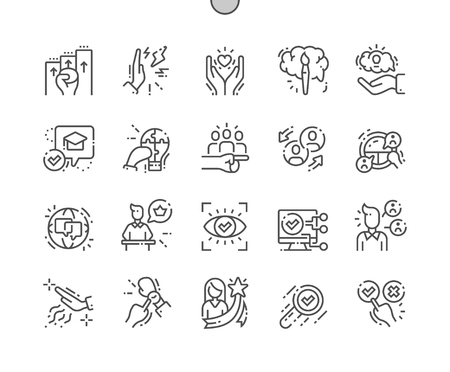 Life skill Well-crafted Pixel Perfect Vector Thin Line Icons 30 2x Grid for Web Graphics and Apps. Simple Minimal Pictogram