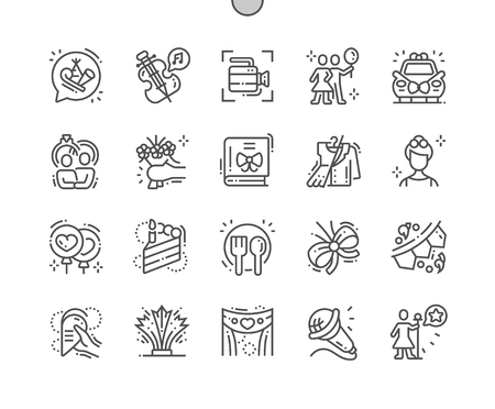 Celebrations Well-crafted Pixel Perfect Vector Thin Line Icons 30 2x Grid for Web Graphics and Apps. Simple Minimal Pictogram Stock Illustratie
