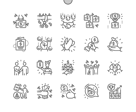Business Celebrations Well-crafted Pixel Perfect Vector Thin Line Icons 30 2x Grid for Web Graphics and Apps. Simple Minimal Pictogram