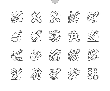 Cutlery Well-crafted Pixel Perfect Vector Thin Line Icons 30 2x Grid for Web Graphics and Apps. Simple Minimal Pictogram