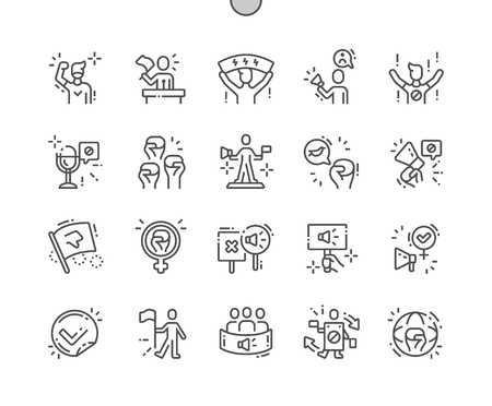 Activist Well-crafted Pixel Perfect Vector Thin Line Icons 30 2x Grid for Web Graphics and Apps. Simple Minimal Pictogram