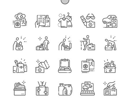 Lets hit the road Well-crafted Pixel Perfect Vector Thin Line Icons 30 2x Grid for Web Graphics and Apps. Simple Minimal Pictogram