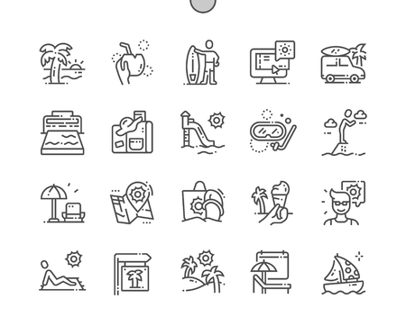 Rest in warm lands Well-crafted Pixel Perfect Vector Thin Line Icons 30 2x Grid for Web Graphics and Apps. Simple Minimal Pictogram