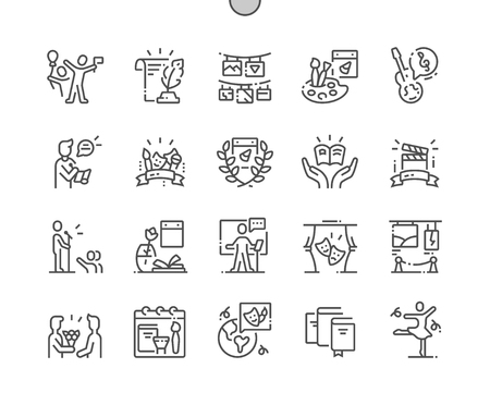 World Day of Culture Well-crafted Pixel Perfect Vector Thin Line Icons 30 2x Grid for Web Graphics and Apps. Simple Minimal Pictogram